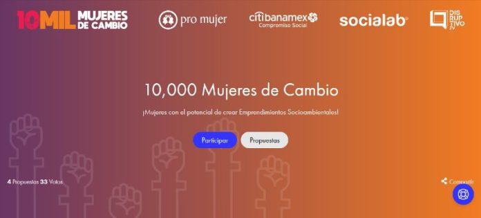 Convocatoria 10,000 Mujeres de Cambio