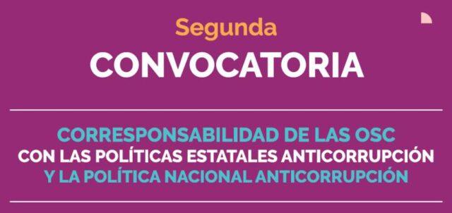 Convocatoria de corresponsabilidad de OSC en temas anticorrupción