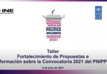 Realizan taller para fortalecer propuestas para el Programa Nacional de Impulso a la Participación Política de Mujeres