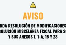 SEGUNDA RESOLUCIÓN DE MODIFICACIONES A LA RESOLUCIÓN MISCELÁNEA FISCAL PARA 2021 Y SUS ANEXOS 1, 1-A, 15 Y 23